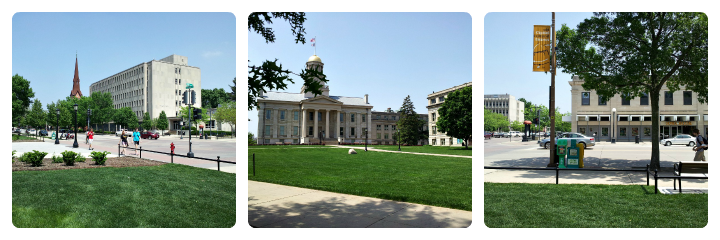 Pentacrest - Old Capitol - Iowa City Summer 2012