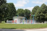 The New Splash Pad at Wetherby Park, Iowa City