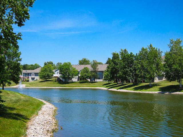 Pond views in the Wellington Neighborhood Iowa City