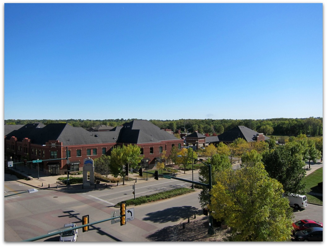 Plaza on fifth Coralville - view from 4th Floor
