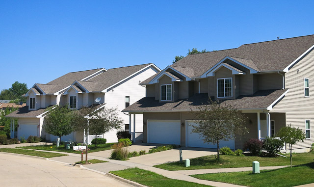 Zero Lot style homes in Iowa City